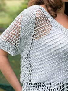 Cibber Ladies Mesh Top Free Knitting Pattern download
