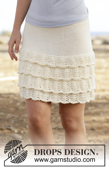 lace ruffle mini skirt free knitting pattern ⋆ Knitting Bee