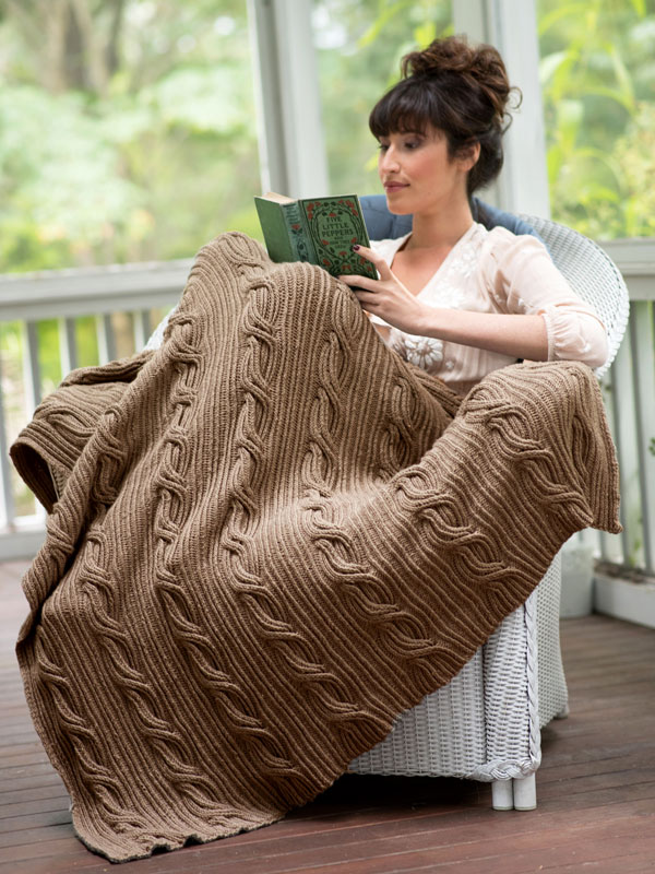 Schuyler Twist Stitch and Cables Free Blanket Knitting Pattern