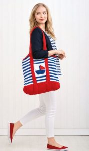 2 Nautical Bags Free Knitting Pattern