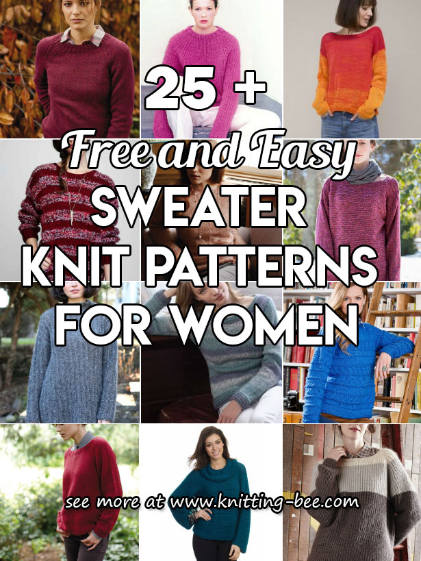 25 + Free and Easy Sweater Knitting Patterns for Women ? Knitting Bee