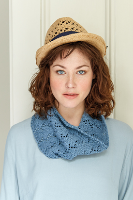 Alta Quick Knit Lace Cowl Free Pattern