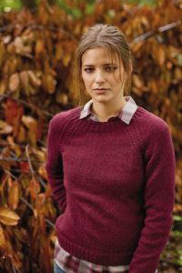 Arabian Raglan Sweater For Women Free Knitting Pattern