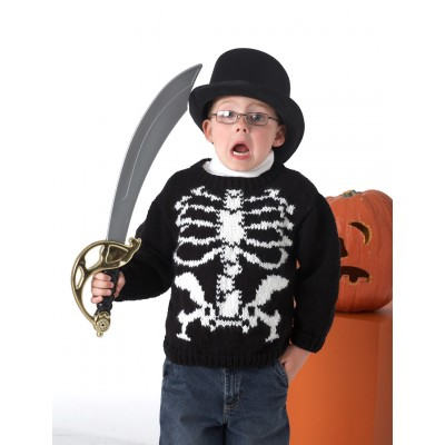 Bernat Skeleton Sweater for Kids Free Knitting Pattern