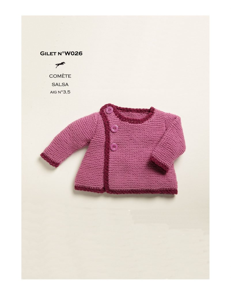 Cute Garter Stitch Baby Cardigan Free Knitting Pattern