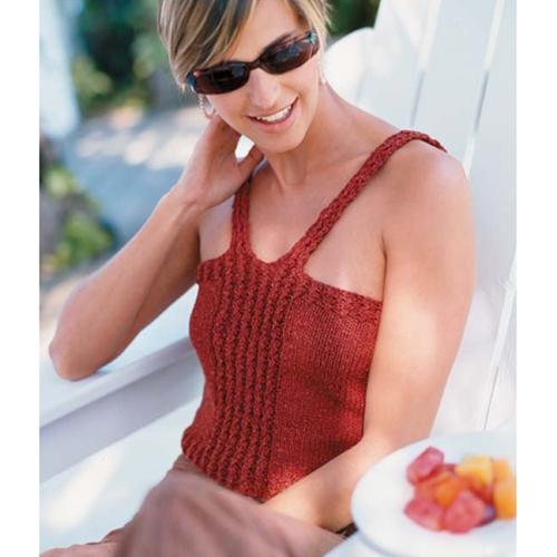 Daring Tank Top Free Knitting Pattern