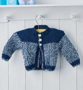 Easy Baby Cardigan Free Knitting Pattern