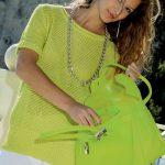 Elena Summer Mesh Top Free Knitting Pattern
