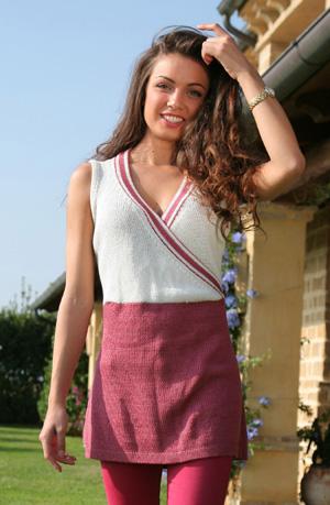 Erika Dress Vest Free Knitting Pattern