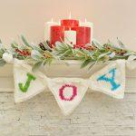 JOY Banner Free Christmas Knitting Pattern