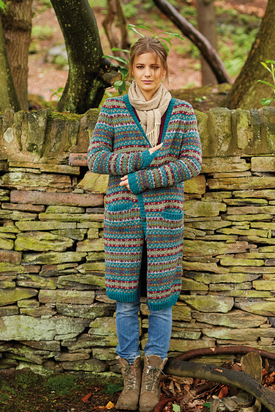 Karoo Long Cardigan Free Knitting Pattern
