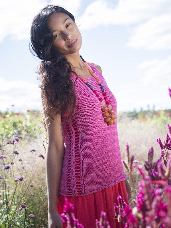 Kiribati Easy Top Free Knitting Pattern ⋆ Knitting Bee