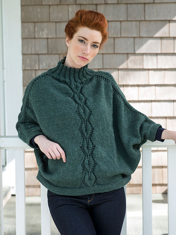 Ladies Knitting Patterns : Kombu Poncho Free Ladies Knitting Pattern ? Knitting Bee