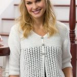 Lace Cardi Free Knitting Pattern for Women
