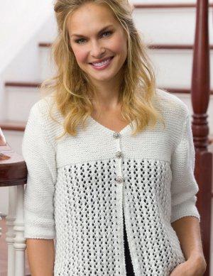 Lace Cardi Free Knitting Pattern for Women