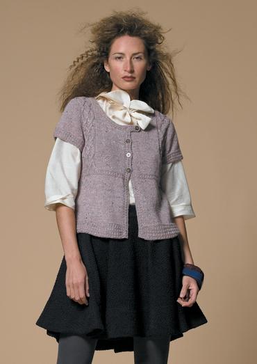 Knitting Pattern Cardigan Short Sleeve : Martha Short-Sleeved Cardigan Free Knitting Pattern ...