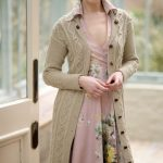 Moss Stitch and Cable Coat Free Knitting Pattern