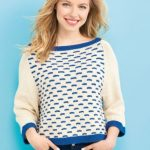 Nautical Sweater Free Women's Knitting Pattern