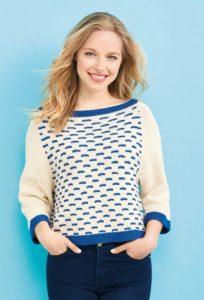Nautical Sweater Free Women's Knitting Pattern