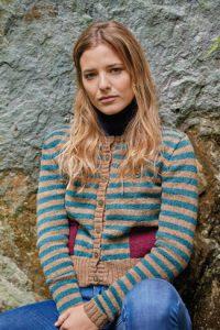 Ogaden Striped Cardigan Free Knitting Pattern
