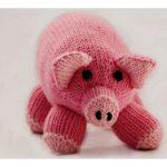 Pink Pig Toy Free Knitting Pattern