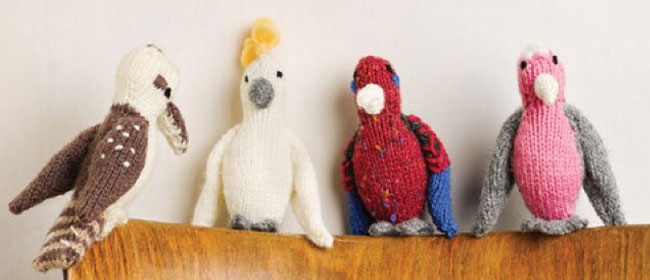 Pocket Pal Aussie Birds Free Knitting Pattern