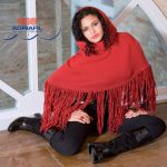 Poncho With Hood and Fringing Free Knitting Pattern