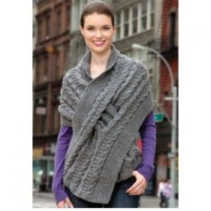 Pull-Through Wrap Free Knitting Pattern
