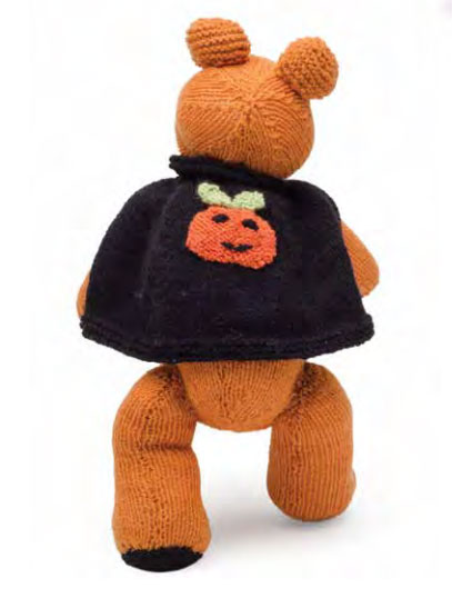 pumpkin bear free halloween knitting pattern - Free Halloween Knitting Patterns
