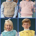 Quick Knit Animal Vests Free Knitting Pattern