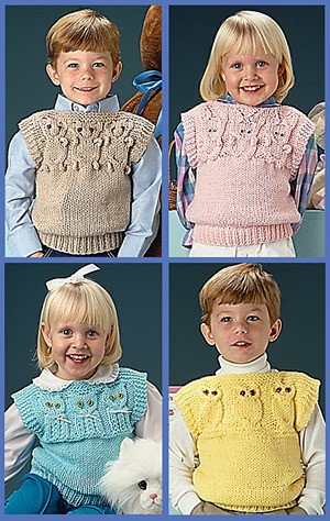 Quick Knit Animal Vests Free Knitting Pattern Knitting Bee