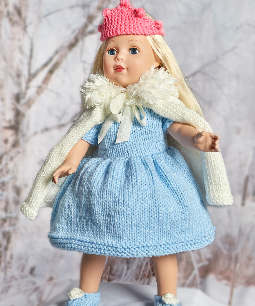 Free doll\'s clothes Patterns ⋆ Knitting Bee (14 free knitting patterns)