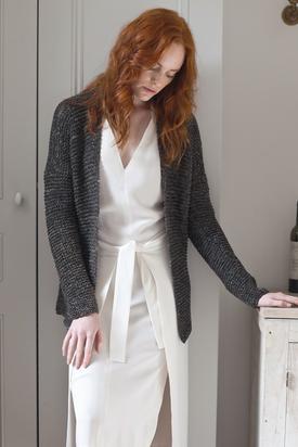 Simple Garter Cardigan Free Knitting Pattern