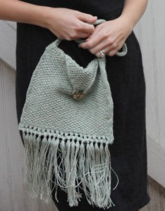 Sage Fringed Bag Free Knitting Pattern
