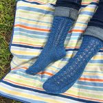 Shenandoah Top Down Socks Free Knitting Pattern