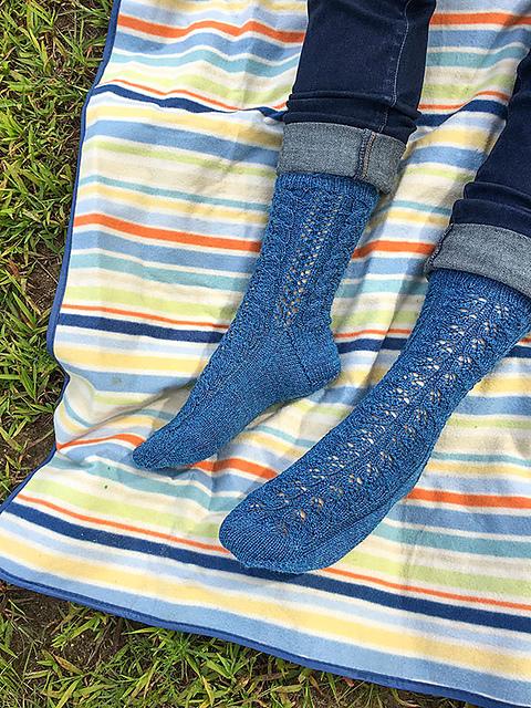 Shenandoah Top Down Socks Free Knitting Pattern