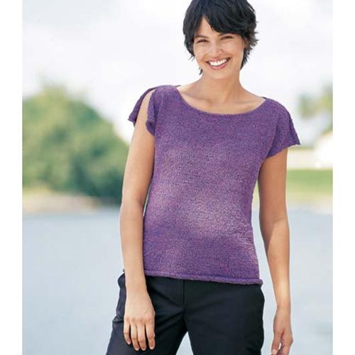 Shoulder-Slit Top Free Knitting Pattern