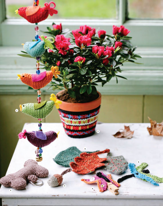 String of Birds Free Knitting Pattern