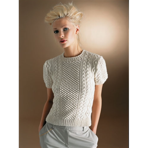 Stylish Aran Top Free Knitting Patterns For Women Knitting Bee