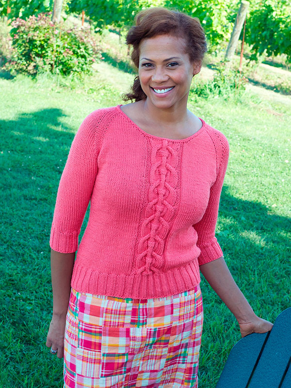 Udina Cable Top/Sweater Free Knitting Pattern ? Knitting Bee