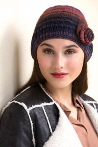 Woman's Rosette Cloche Free Knitting Pattern