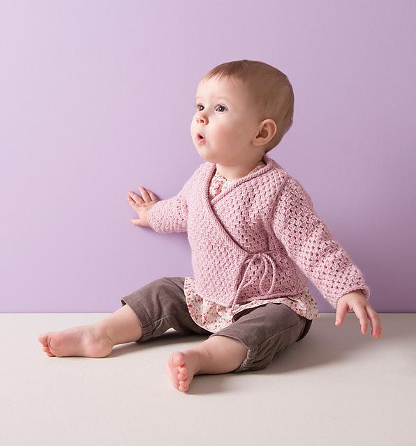 Wrap Jacket for Baby Free Knitting Pattern
