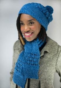 Zen Hat & Scarf Free Knitting Pattern