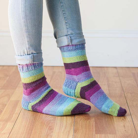 Accogliente Socks Free Knitting Pattern