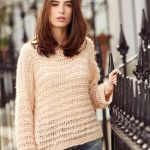 Alexandra Drop Shoulder Sweater Free Knitting Pattern