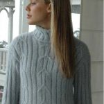 Angora Extra Cable Sweater Free Knitting Pattern