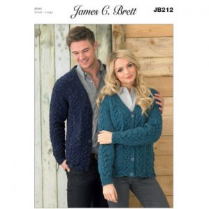 Aran Ladies and Men's Cardigans