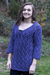 Arcadian Lace Pullover Free Knitting Pattern