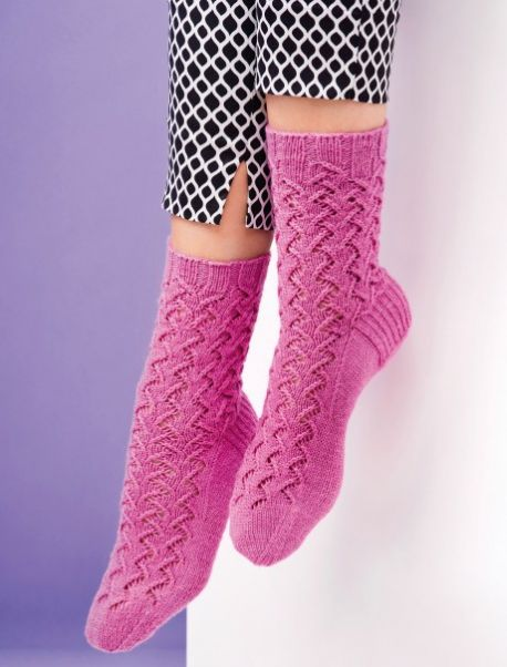 Beginners Lace Socks Free Knitting Pattern Knitting Bee