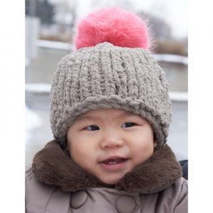 Bernat Big Stitch Baby Hat Free Knitting Pattern